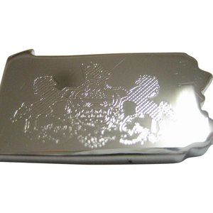 Pennsylvania State Map Shape and Flag Magnet